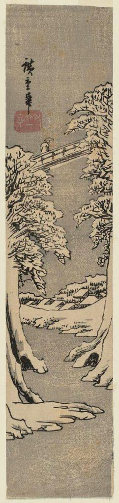 utagawa-hiroshige-affenbruecke-im-winter